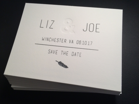 Liz and Joe Save the Date